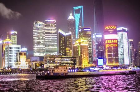 shanghai in the night
