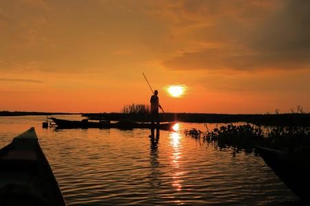 The sunset man
