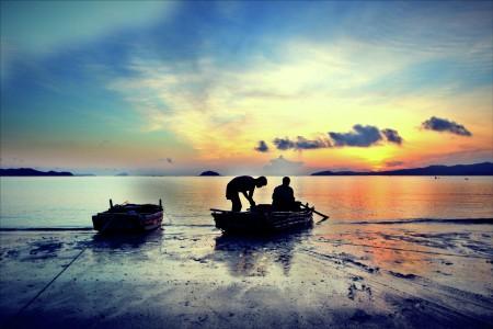 Sunrise on the island