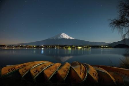 Night Scene at Mt. Fuji