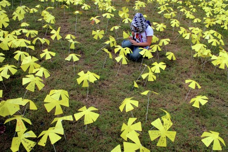 Bunga kertas Harapan jepang untuk aceh (Tsunami)