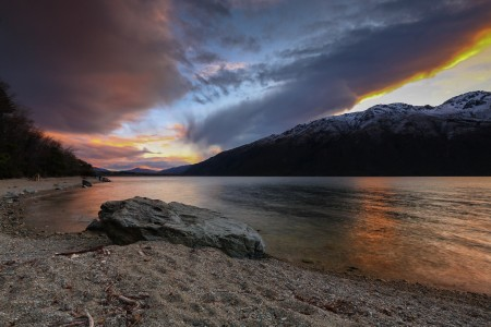 Sunset at Wakatipu Lake Queensland