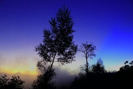 sunset in Bantengan TNBTS