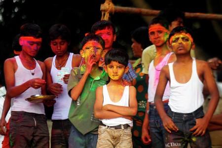Children in Ganesha Festival