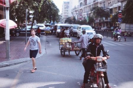 Street in Phnom Penh, Cambodia.