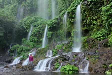 my wife and benang kelambu waterfall
