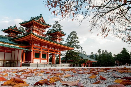 The Heian Shrine in autumn