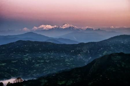 Kanchenjungha at dawn.