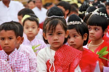 Children with traditional dress