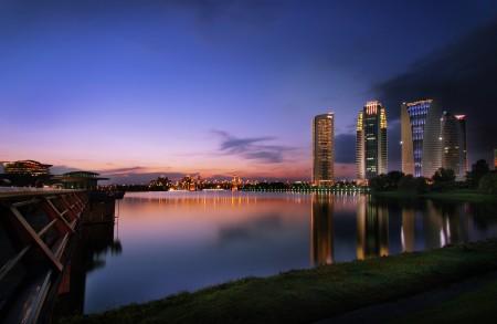 Landscape of Putrajaya (Malaysia)  at dusk