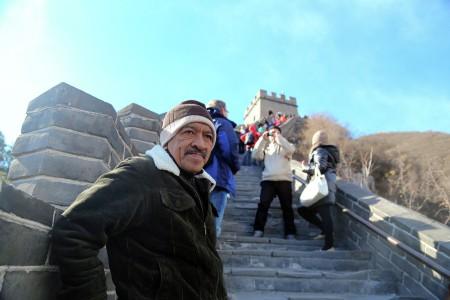 A Man at Great Wall of China