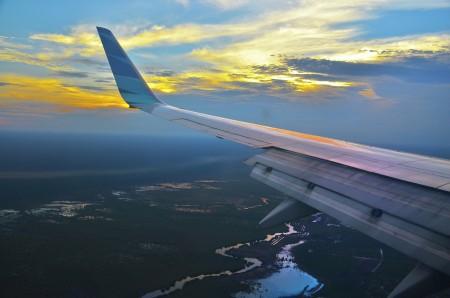 9 menit jelang landing