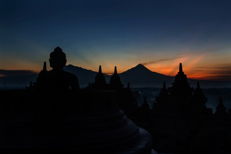 Morning in Borobudur