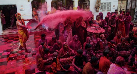 holi with priest
