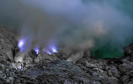 Ijen Crater's Blue Fire