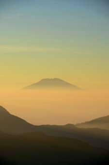 Mount Merbabu, view from Sikunir