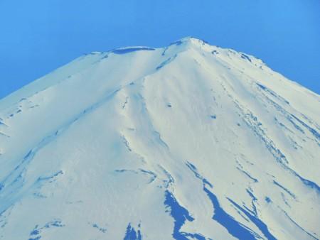 Snow on Top of Mount Fuji
