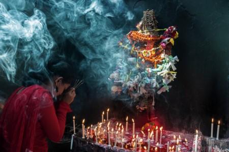 Hindu Girl Praying