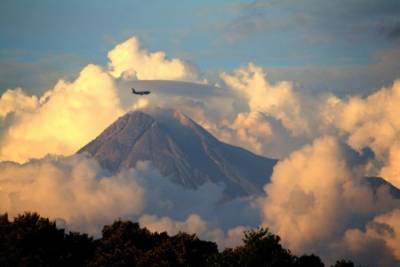 Fly Pass Over Mount Merapi