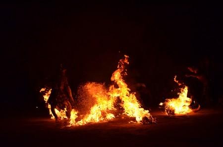 Hanuman on Fire