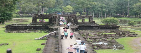 Bapoun Temple front view after raining