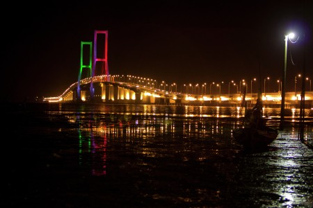 Suramadu Bridge at the Night