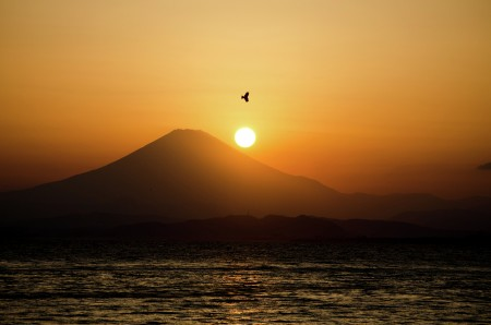 Sunset at Enoshima Island