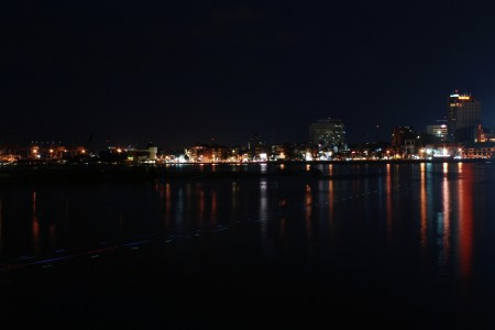 Losari beach at night