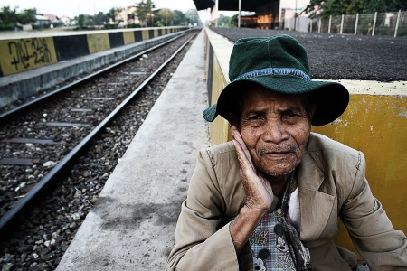 Old Man in The Old Railway Station