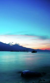 talise beach at dusk