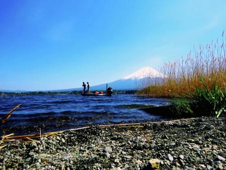 Fishing in Kawaguchiko Lake